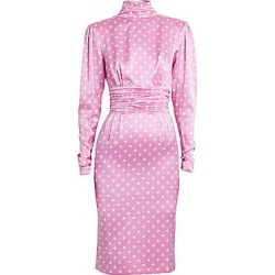 Alessandra Rich Women's Dressing For Pleasure Polka Dot Satin Dress - Pink - Size 40 (6) found on MODAPINS from Saks Fifth Avenue for USD $1690.34