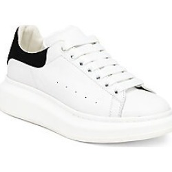Alexander McQueen Women's Leather Sneakers - White Black - Size 40.5 (10.5) found on MODAPINS from Saks Fifth Avenue for USD $490.00