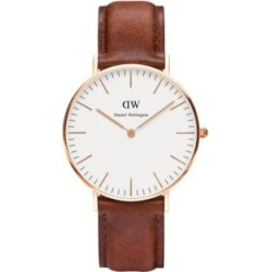 Classic St. Mawes Rose Goldtone and Leather Strap Watch, 36mm found on Bargain Bro India from Lord & Taylor for $199.00