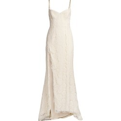FAME AND PARTNERS Women's The Dandelion Lace Gown - Champagne - Size 6