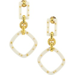 Gas Bijoux Women's Escale 24K Goldplated & Acetate Geometric Drop Earrings - Yellow Goldtone found on Bargain Bro Philippines from Saks Fifth Avenue for $185.00