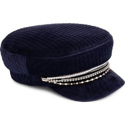 Marina Chain-Trimmed Quilted Velvet Newsboy Cap found on Bargain Bro UK from Saks Fifth Avenue UK