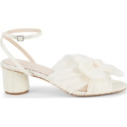 Loeffler Randall Women's Dahlia Crepe Bow Ankle-Strap Sandals - Pearl - Size 7.5 found on MODAPINS from Saks Fifth Avenue for USD $350.00