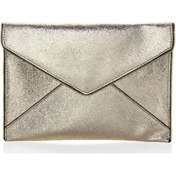 Leo Cracked Leather Clutch