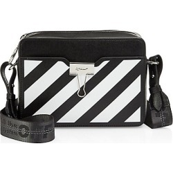 Off-White Women's Diagonal Stripe Leather Camera Bag - Black White found on MODAPINS from Saks Fifth Avenue for USD $910.00