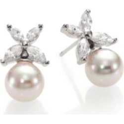 8MM White Pearl Floral Drop Earrings found on Bargain Bro UK from Saks Fifth Avenue UK
