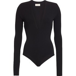Alexandre Vauthier Women's Long-Sleeve Structure Bodysuit - Black - Size 38 (2) found on MODAPINS from Saks Fifth Avenue for USD $1025.00