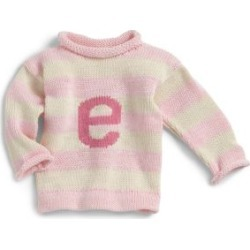 Toddlers Personalized Letter Sweater