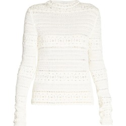 Saint Laurent Women's Crochet Knit Sweater - Naturel - Size Large found on Bargain Bro from Saks Fifth Avenue for USD $980.40