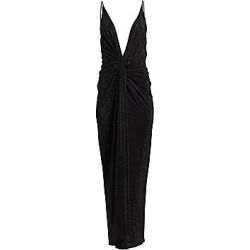 Alexandre Vauthier Women's Knotted Sequin Deep-V Column Gown - Black - Size 38 (6) found on MODAPINS from Saks Fifth Avenue for USD $6800.00