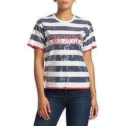 Alberta Ferretti Women's Tomorrow Stripe Tee - Blue - Size XS found on MODAPINS from Saks Fifth Avenue for USD $695.00
