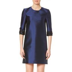Carolina Herrera Women's Embellished-Sleeve Silk & Wool Shift Dress - Navy - Size 4 found on MODAPINS from Saks Fifth Avenue for USD $896.99