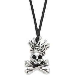 Sterling Silver Crown & Skull Pendant Necklace found on Bargain Bro Philippines from Saks Fifth Avenue OFF 5TH for $300.00