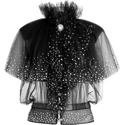 Paco Rabanne Women's Crystal Embellished Tulle Top - Black - Size 6 found on MODAPINS from Saks Fifth Avenue for USD $1250.00