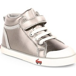 See Kai Run Kid's Peyton Leather High-Top Sneakers - Pewter - Size 8 (Toddler) found on Bargain Bro India from Saks Fifth Avenue for $52.00
