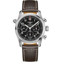 Longines Spirit Stainless Steel & Leather-Strap Chronograph Watch found on MODAPINS from Saks Fifth Avenue UK for USD $3297.40