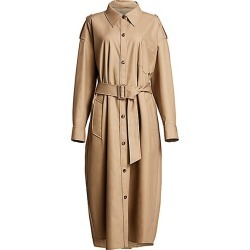 Alexander Wang Women's Deconstructed Cotton Trench Coat - Chino - Size Medium found on MODAPINS from Saks Fifth Avenue for USD $697.50