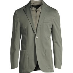 Corneliani Men's Cashmere-Blend ID Jacket - Sage - Size 56 (46) R found on MODAPINS from Saks Fifth Avenue for USD $485.62