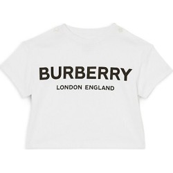 Burberry Baby's & Little Kid's Mini Robbie Branded Tee - White - Size 6 Months found on Bargain Bro Philippines from Saks Fifth Avenue for $100.00