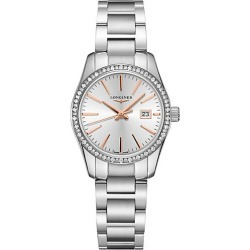 Longines Men's Conquest Classic Diamond & Stainless Steel Bracelet Watch - Silver found on MODAPINS from Saks Fifth Avenue for USD $2200.00