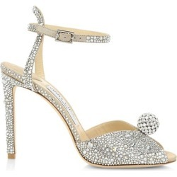 Sacora Peep-Toe Crystal-Embellished Leather Sandals found on Bargain Bro from Saks Fifth Avenue Canada for USD $1,506.89