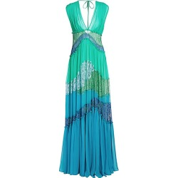 Alberta Ferretti Women's Colorblocked Lace Gown - Green Multi - Size 38 (2) found on MODAPINS from Saks Fifth Avenue for USD $2750.00