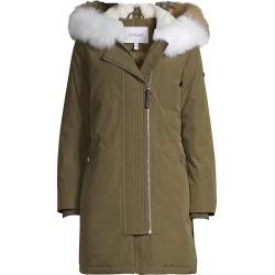 Derek Lam Women's Nylon Fox Fur-Trim Anorak Coat - Olive - Size Medium found on MODAPINS from Saks Fifth Avenue for USD $795.00