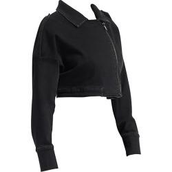 Ashley Graham X Marina Rinaldi Crop Biker Jacket found on MODAPINS from Saks Fifth Avenue for USD $415.00