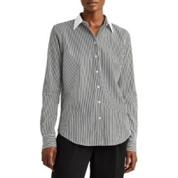 Relaxed-Fit Pinstriped Cotton Shirt found on GamingScroll.com from The Bay for $64.99