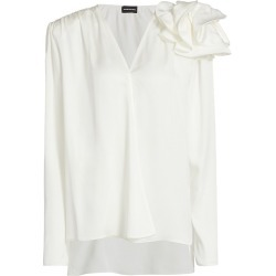 Magda Butrym Women's Bolzano Floral Appliqué Blouse - White - Size 4 found on MODAPINS from Saks Fifth Avenue for USD $825.00
