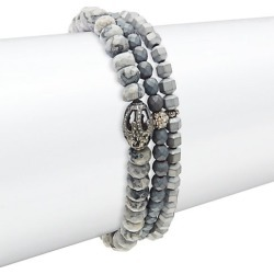 Agate, Hematite & Diamond Three-Strand Beaded Bracelet found on Bargain Bro India from Saks Fifth Avenue OFF 5TH for $447.98