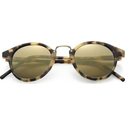 Kyme Men's Frank 46mm Round Monel Bridge Sunglasses - Brown found on MODAPINS from Saks Fifth Avenue for USD $305.00