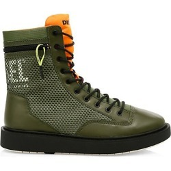 Diesel Men's Cage Leather Trim Boots - Burnt Olive - Size 12 found on MODAPINS from Saks Fifth Avenue for USD $149.00