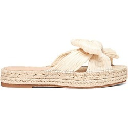 Loeffler Randall Women's Juniper Pleated Knot Espadrille Slip-On Sandals - Natural - Size 11 found on MODAPINS from Saks Fifth Avenue for USD $225.00