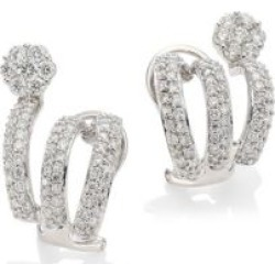 Diamond Flower 18K White Gold & Diamond Cuff Earrings found on Bargain Bro India from Saks Fifth Avenue Canada for $5255.29