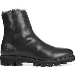 Vince Men's Counter Leather & Shearling Ankle Boots - Black - Size 10 found on Bargain Bro India from Saks Fifth Avenue for $450.00