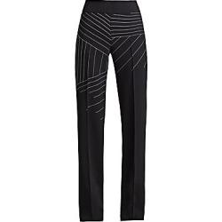 Akris Women's Carla Mountain Print Pants - Black - Size 6
