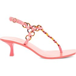 Cult Gaia Women's Caitlyn Ring-Embellished Leather Thong Sandals - Rose - Size 7.5 found on MODAPINS from Saks Fifth Avenue for USD $149.25
