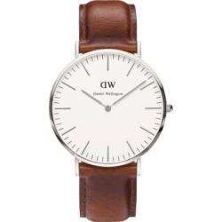 Montre St. Mawes Classic avec bracelet en cuir, 40 mm