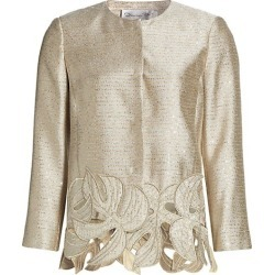 Palm Leaf Embroidered Sequin Tweed Jacket found on Bargain Bro UK from Saks Fifth Avenue UK