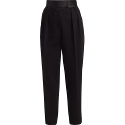 Alexander Wang Women's High-Waisted Pleated Tuxedo Trousers - Black - Size 0 found on MODAPINS from Saks Fifth Avenue for USD $695.00