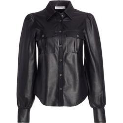 Fem Leather Military Shirt