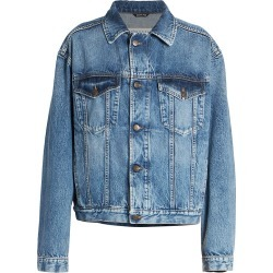 Maison Margiela Women's Oversized Recycled Denim Jacket - Blue - Size 6 found on MODAPINS from Saks Fifth Avenue for USD $1135.00