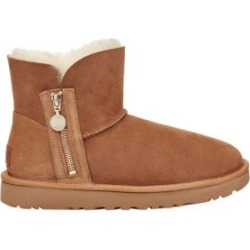 Mini Bailey Zip Sheepskin-Lined Suede Boots found on Bargain Bro UK from Saks Fifth Avenue UK
