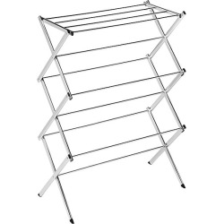 Honey-Can-Do Commercial Steel Accordion Drying Rack - Silver