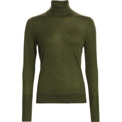 Saks Fifth Avenue Women's COLLECTION Cashmere Turtleneck Sweater - Olive Moss - Size Small found on Bargain Bro from Saks Fifth Avenue for USD $95.00