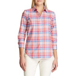 Straight-Fit Plaid Cotton Shirt found on GamingScroll.com from The Bay for $18.96