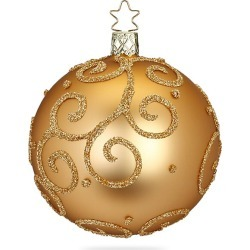 Inge's Christmas Decor Barocco Glass Ball Ornament - Gold found on Bargain Bro India from Saks Fifth Avenue for $16.00