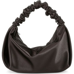 Alexander Wang Women's Mini Scrunchie Satin Bag - Black found on MODAPINS from Saks Fifth Avenue for USD $295.00
