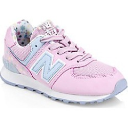 New Balance Girl's 574 Summer Shore Knit Sneakers - Crystal Rose - Size 12 (Child) found on Bargain Bro India from LinkShare USA for $54.95